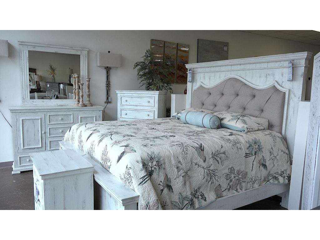 Vintage NinaKing Bed, Dresser, Mirror & Nightstand