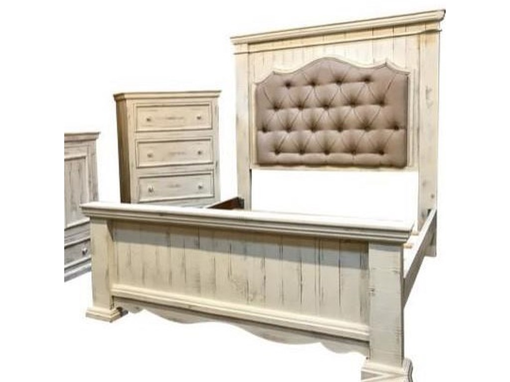 low priced 23412 19eaf Nina King Bed with Padded Headboard by Vintage at Great American Home Store