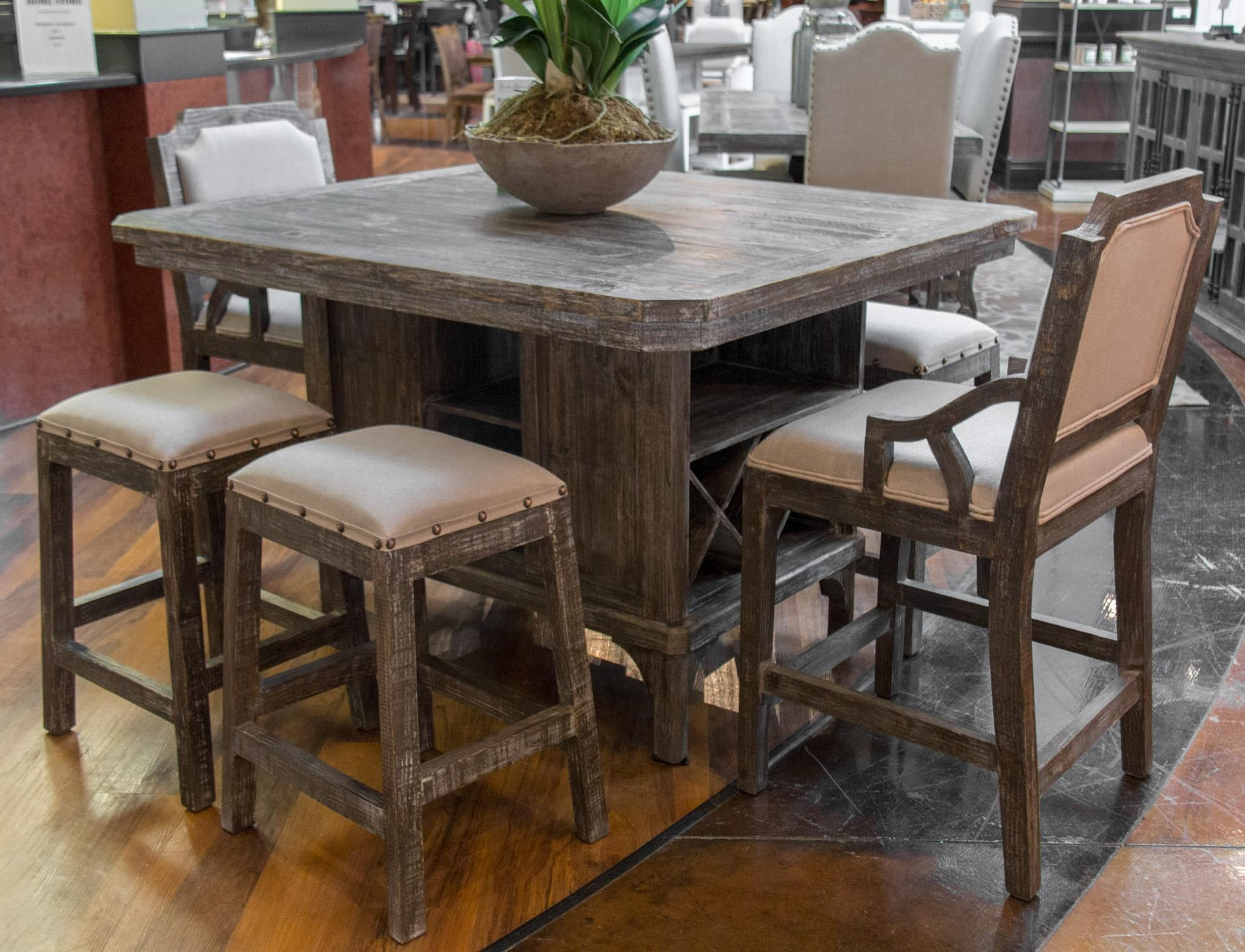 Delicieux Vintage ArtesiaKitchen Island Pub Table, 4 Backless Barstoo