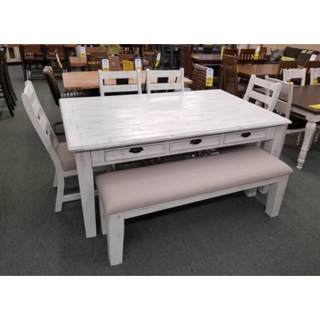Storage Dining Table and 4 Chairs