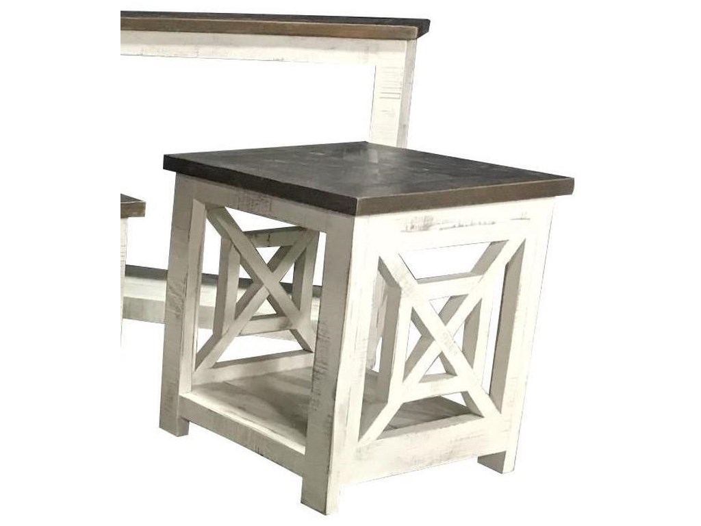 Vintage Occasional TablesSquare Two Toned End Table