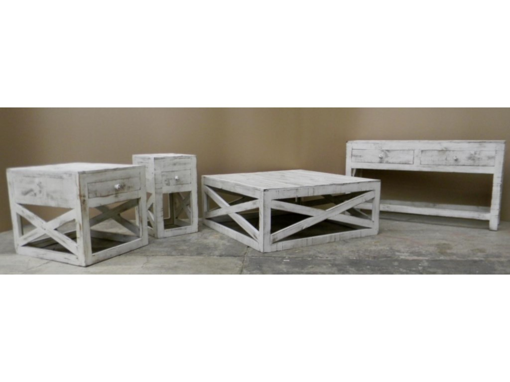 Vintage Occasional TablesCross Chairside Table in Nero White