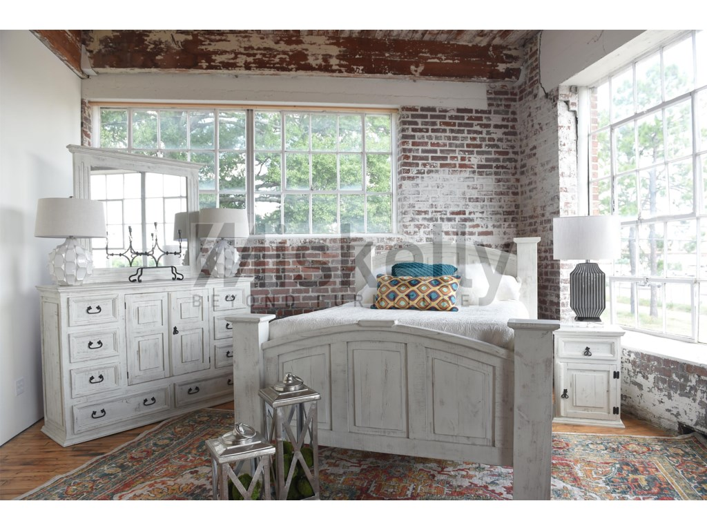 Vintage AVAQueen Bed, Dresser, Mirror and Nighstand