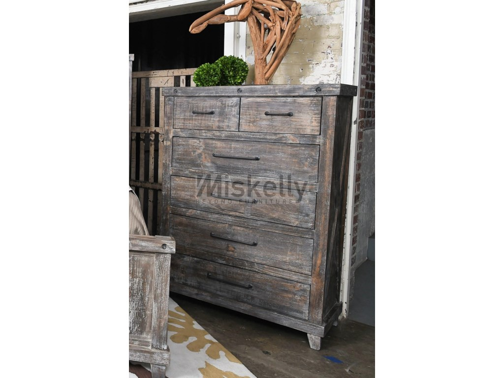 Vintage IndustrialSolid Wood Chest