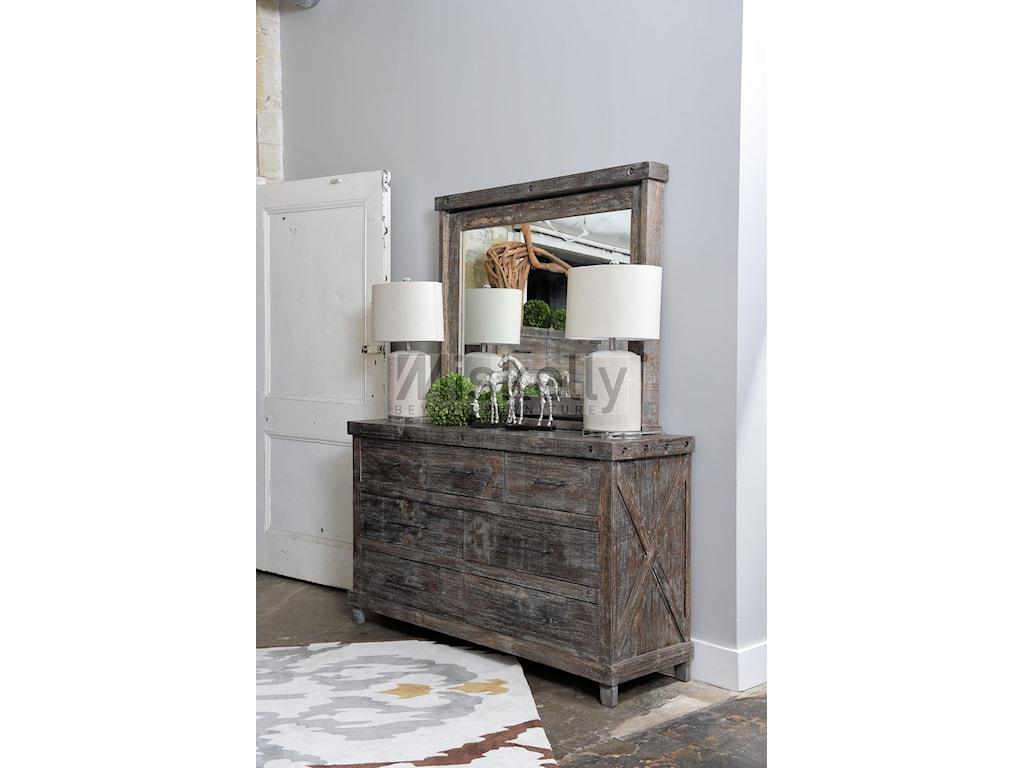 Vintage IndustrialSolid Wood Dresser