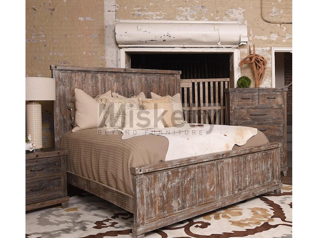 Vintage IndustrialSolid Wood Queen Bed