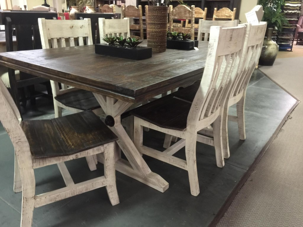 Vintage Warehouse CollectionTwo Toned Dining Table