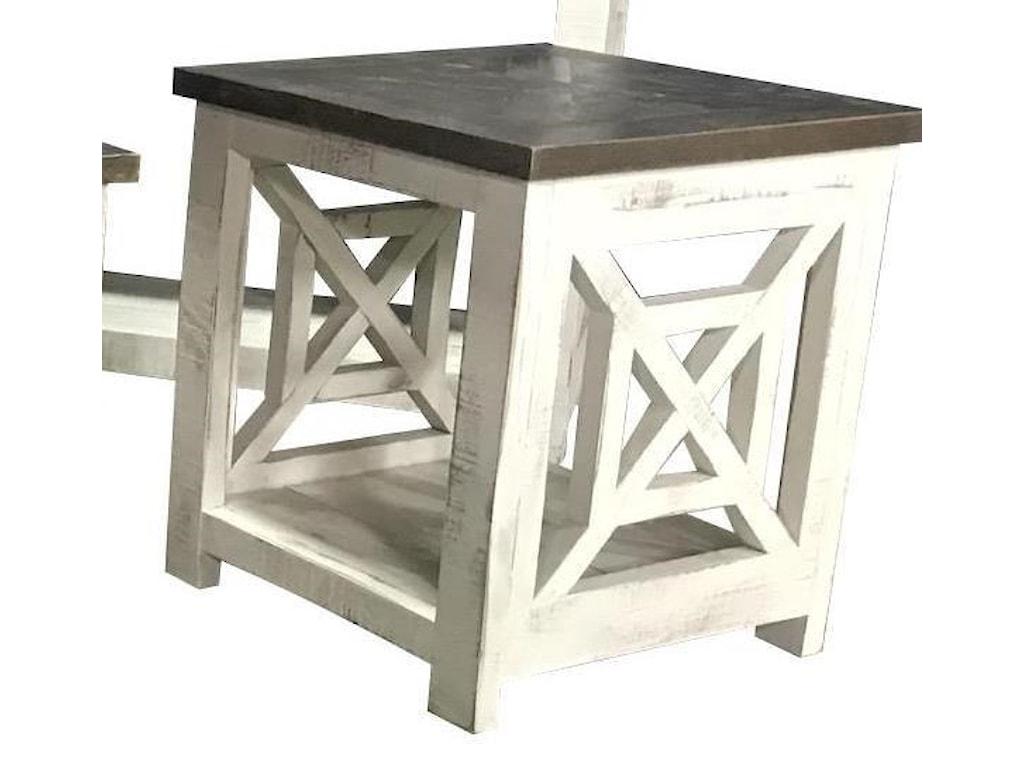 Vintage X SQUAREDEnd Table