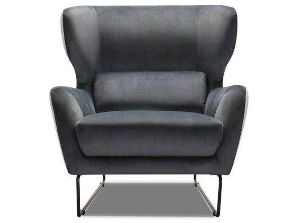 Violino 1140Contemporary Velvet Chair