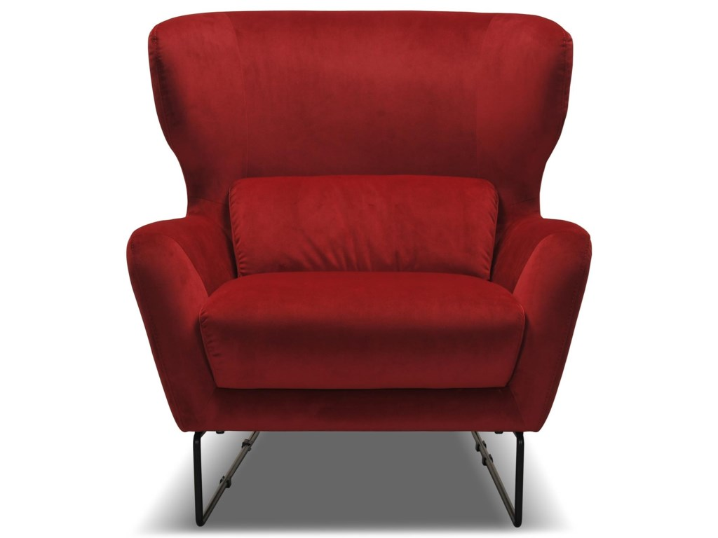 Violino 1140Red Contemporary Velvet Chair