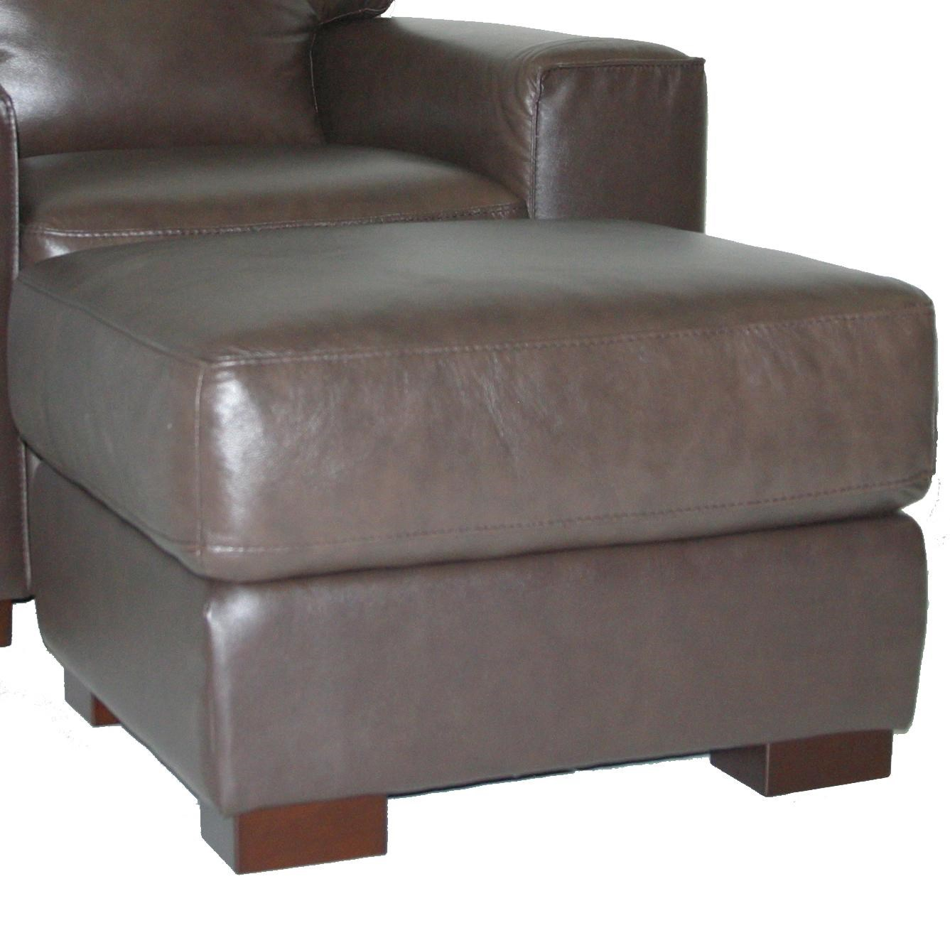 30480 Contemporary Ottoman With Block Feet By Violino