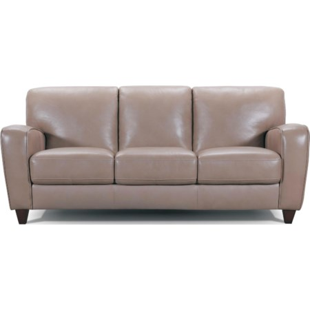 Track Arm Leather Sofa