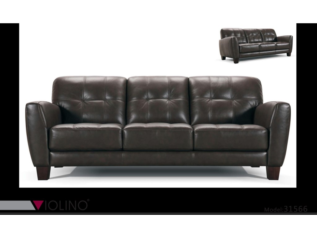 Violino 31566 31566 3p tufted leather sofa dunk bright furniture sofas