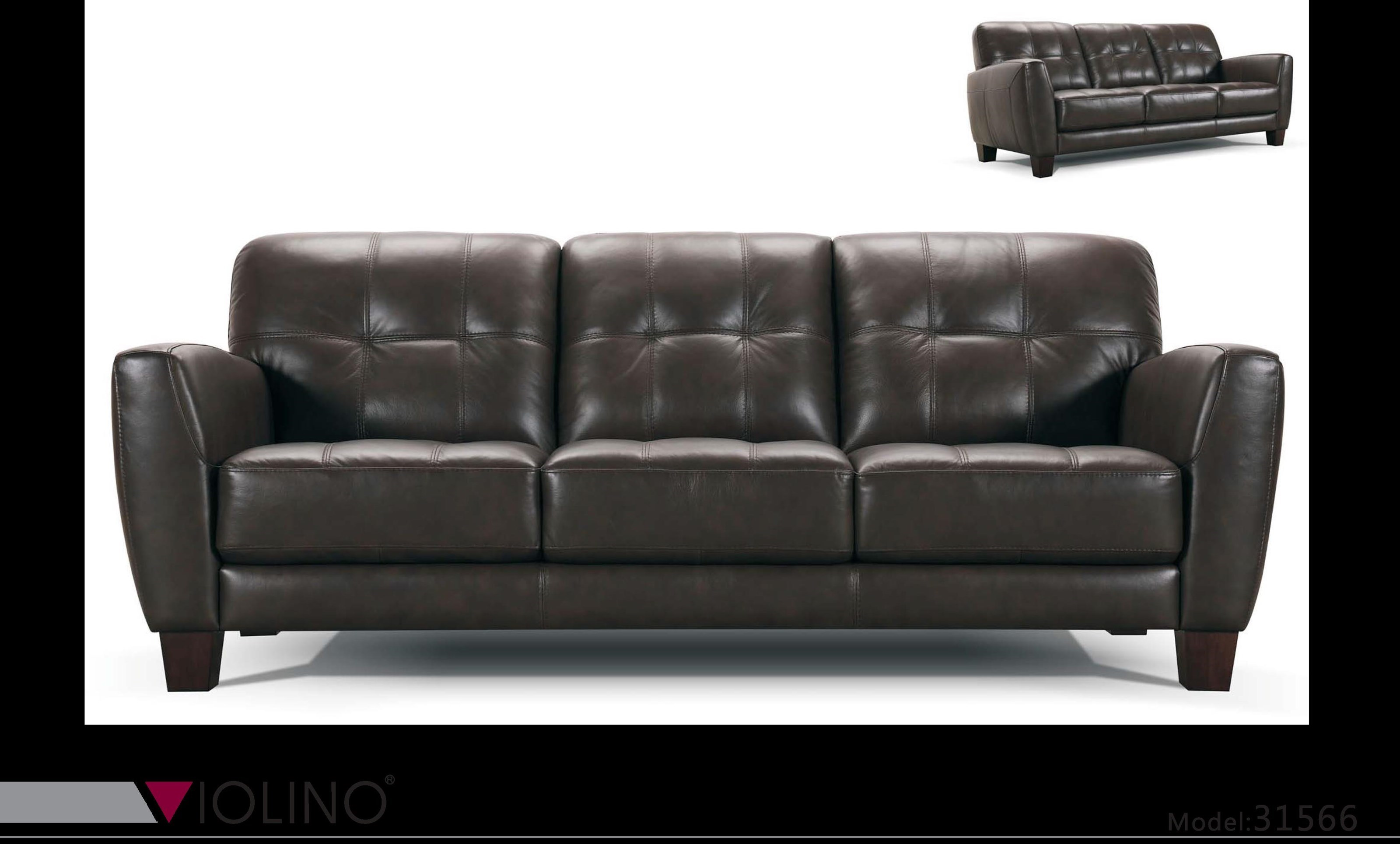 Violino 31566Tufted Leather Sofa