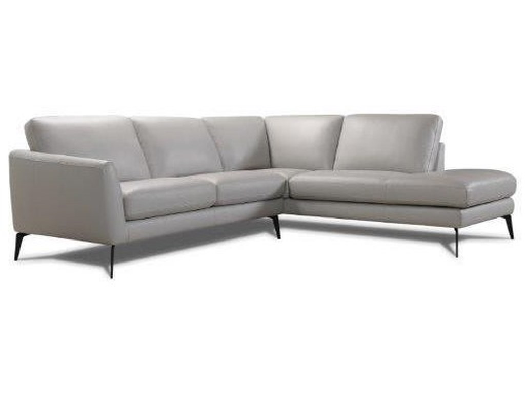 Violino 31628 31628-2.5PL/CSR Leather Chaise Sectional | Dunk ...