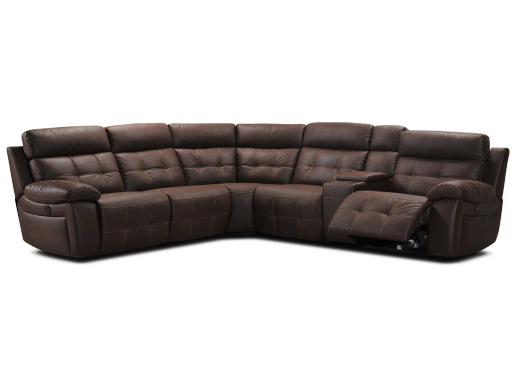 Becker 1950 317366 Pc Reclining Sectional Sofa