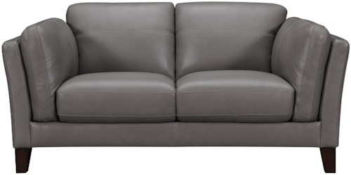 Violino 31808 Transitional Loveseat with Plush Arm Cushions