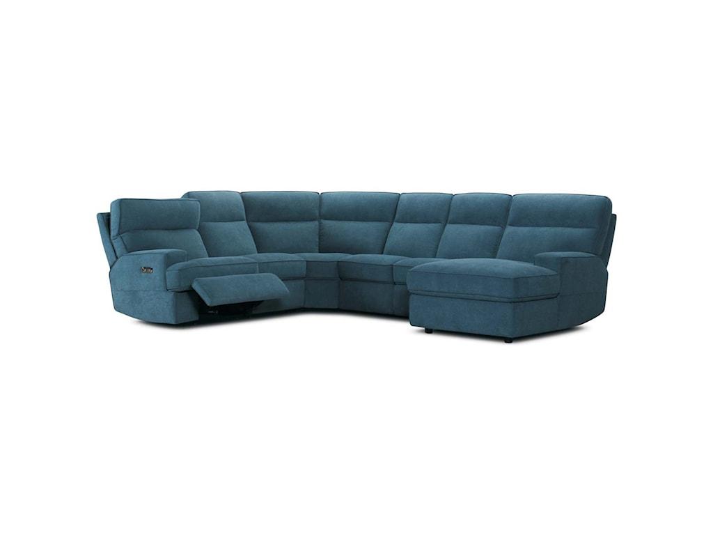 Violino 321466 Pc Reclining Sectional Sofa