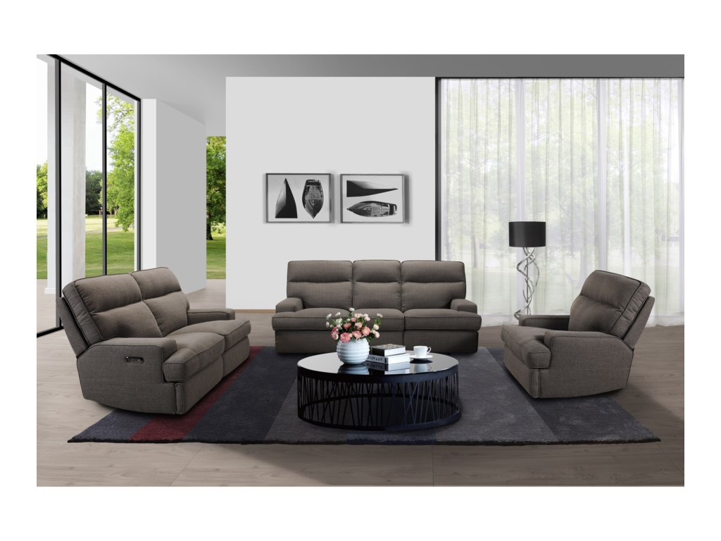 Sarah Randolph Designs 32146Power Reclining Sofa with Power Headrests