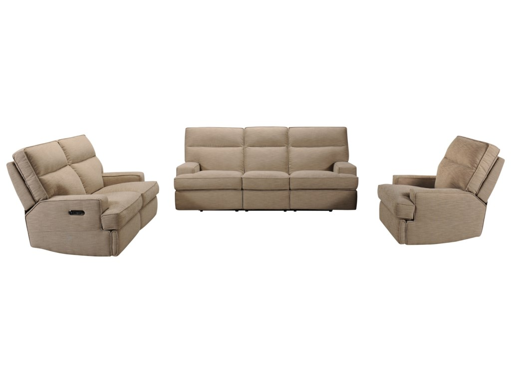 Violino 32146Power Reclining Sofa with Power Headrests