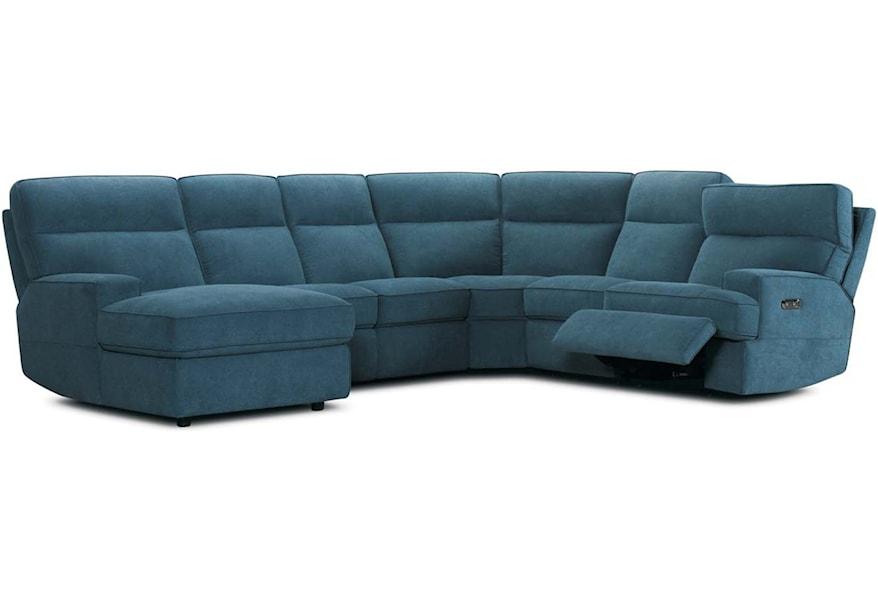 Violino 32146 Contemporary 6 Piece Power Reclining Sectional Sofa