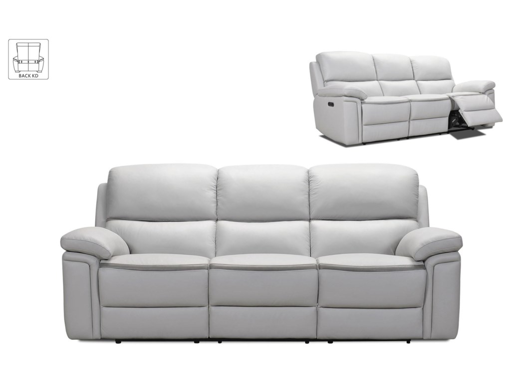 32693 Power Leather Reclining Sofa by Violino at Furniture Fair - North  Carolina