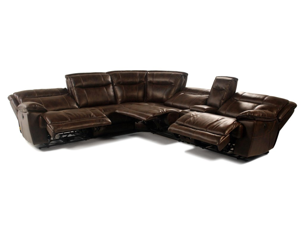 Madison Manor Mustang6PC Power Reclining Sectional