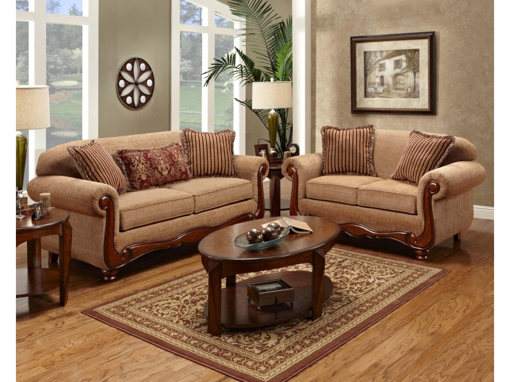 Washington Furniture 1000Traditional Love Seat