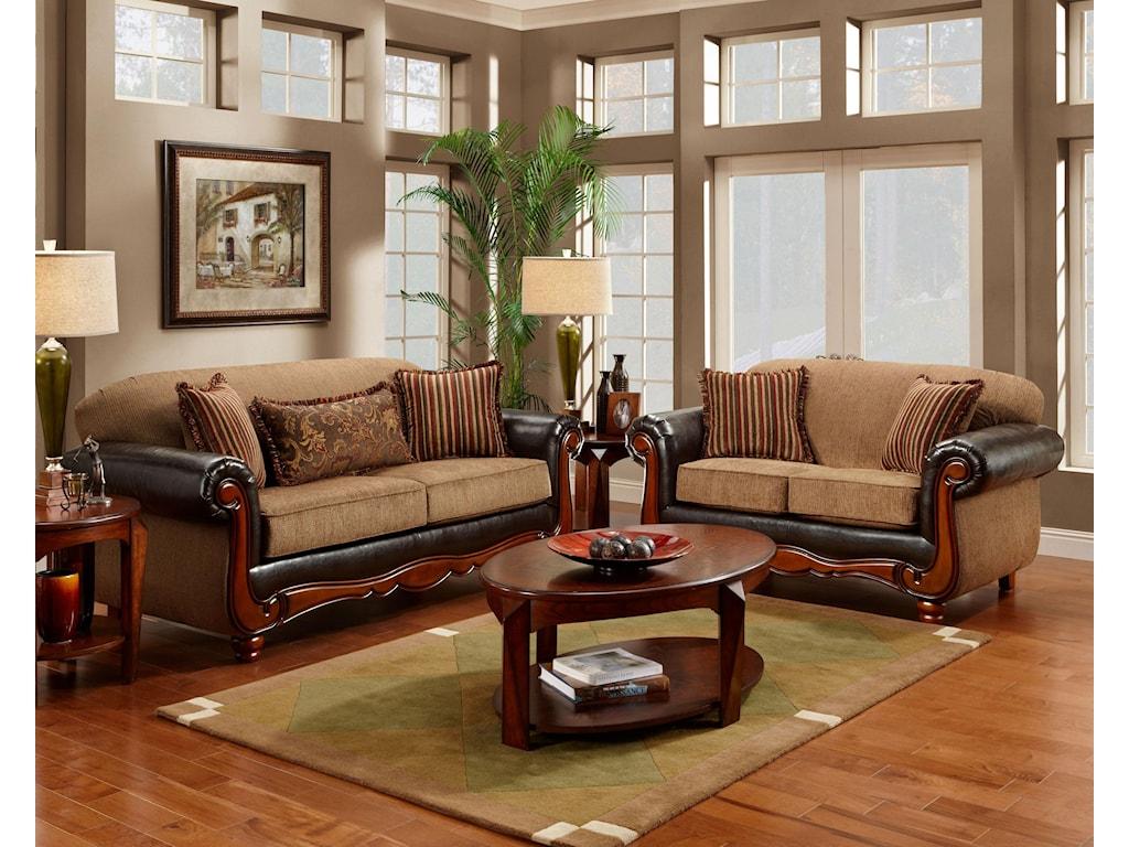 Washington Furniture 1030 Radar MochaLoveseat