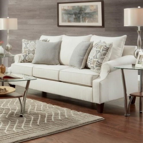 Washington Furniture Kim Transitional Sofa with Tapered Legs