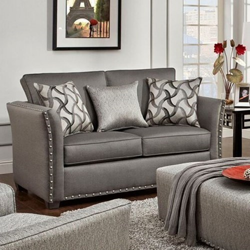 Washington Furniture Halida Contemporary Love Seat with Flare Tapered Arms