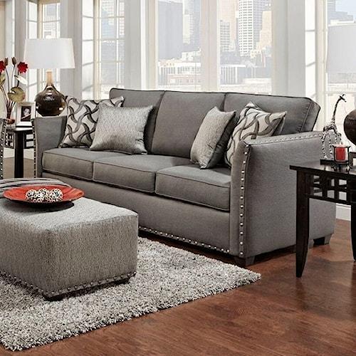Washington Furniture Halida Contemporary Sofa with Flare Tapered Arms