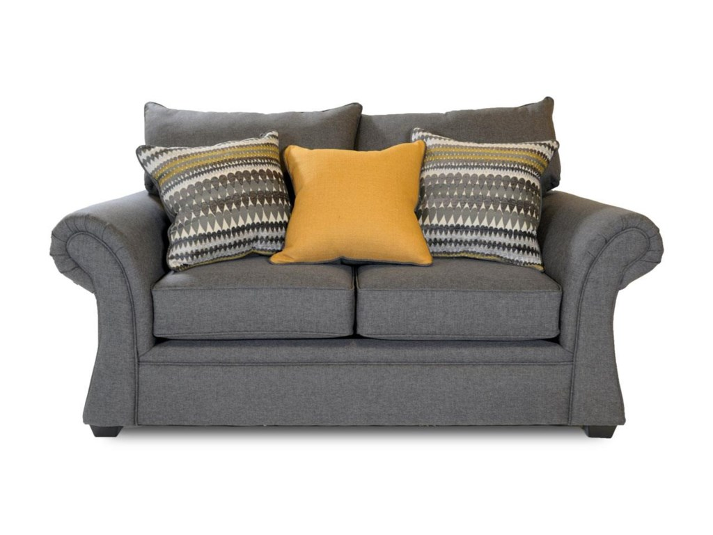 Washington Furniture JitterbugJitterbug Gray Loveseat