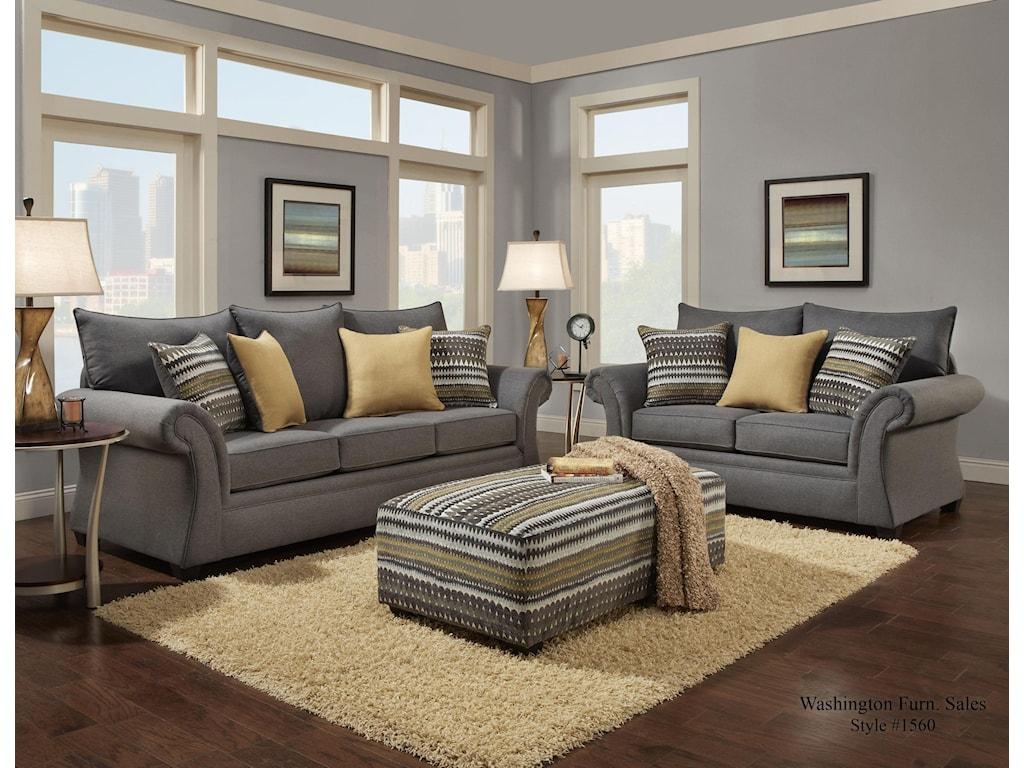 Washington Furniture 1560Loveseat