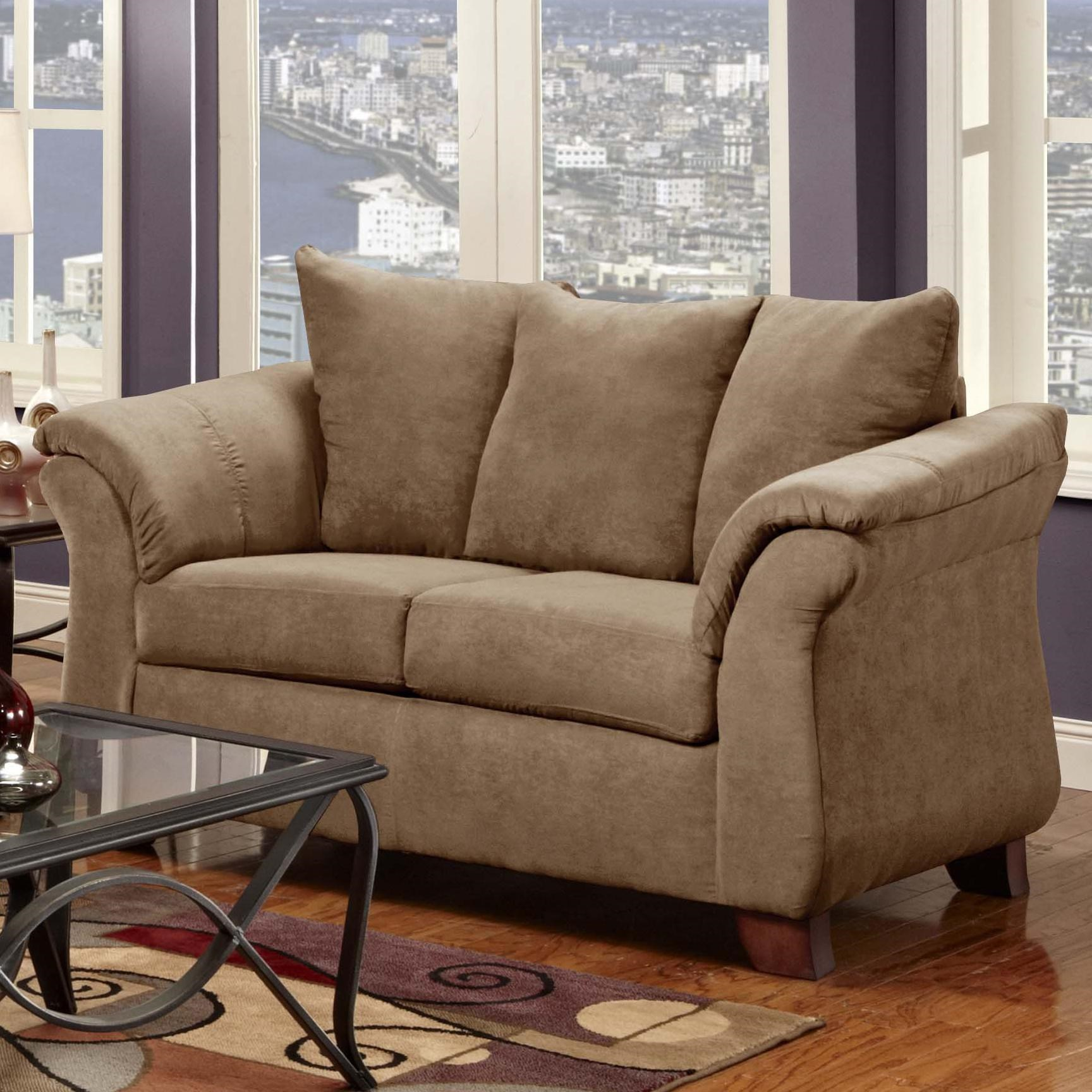 Washington Furniture 2000 Two Seat Loveseat With Flared Armrests    Household Furniture   Love Seat
