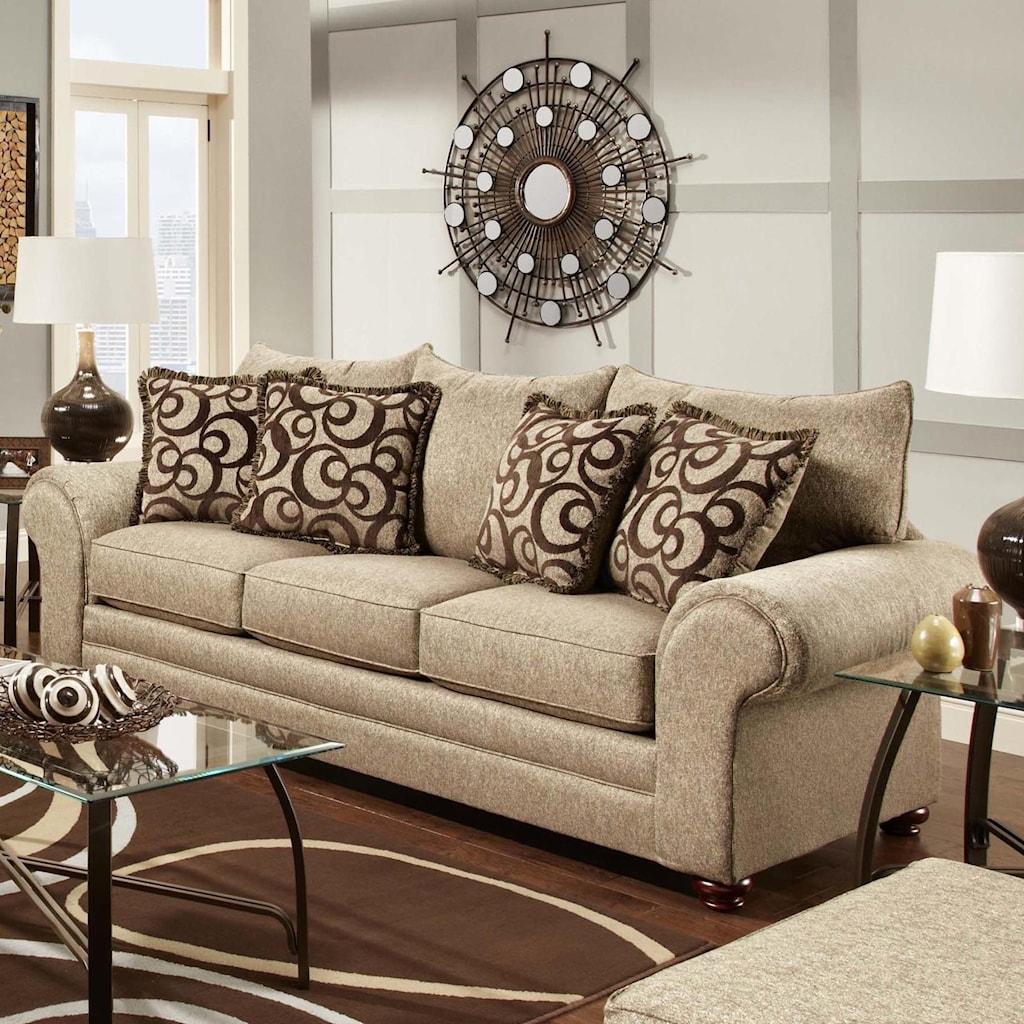 washington furniture 2120 traditional stationary sofa with large