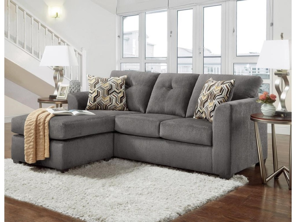 Washington Furniture KellyGray Sofa with Chaise