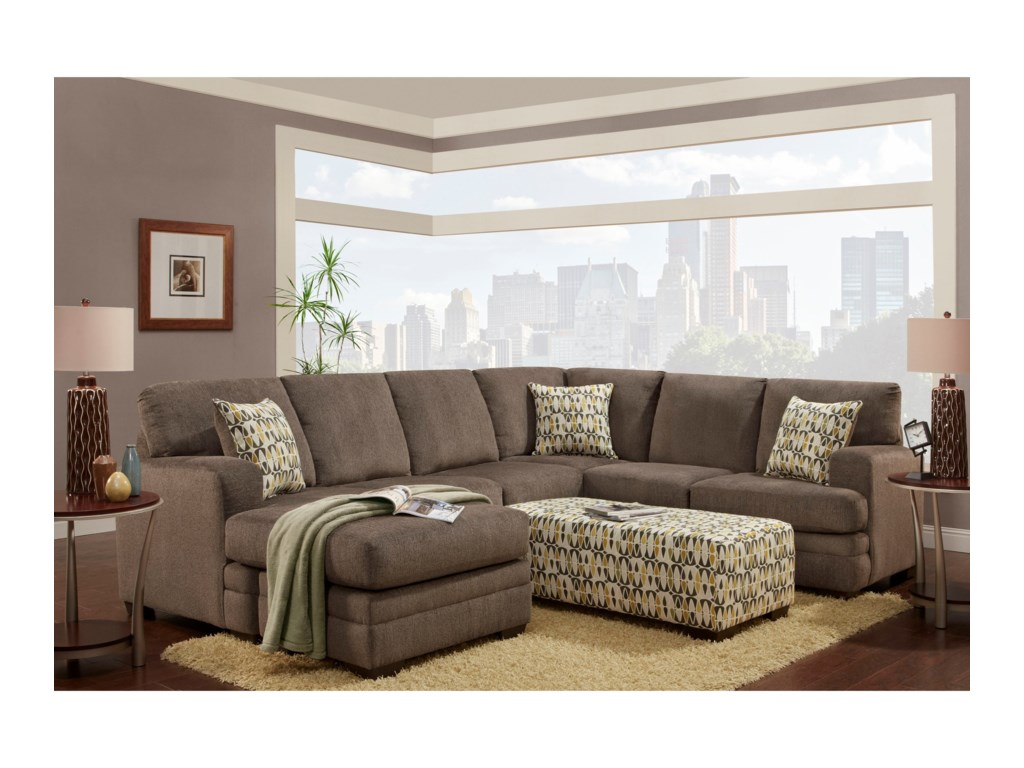 Washington 4160Sectional with Chaise