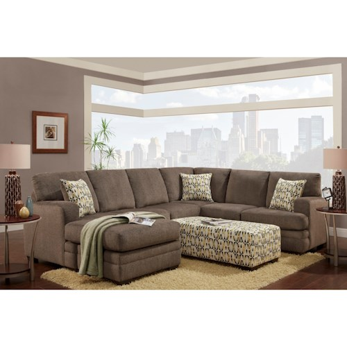 Washington Furniture 4160 Sectional with Chaise