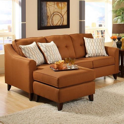 Washington Furniture 4740 Transitional Stationary Sofa with Chaise
