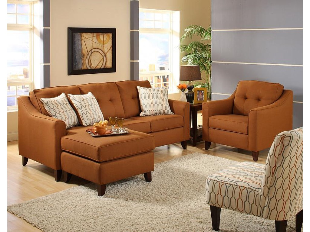 Washington Furniture 4740Transitional Stationary Sofa