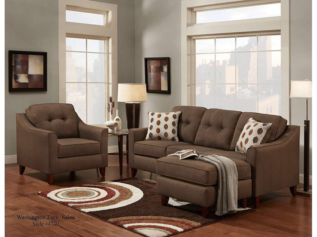 Washington Furniture StokedStoked Chocolate Chair