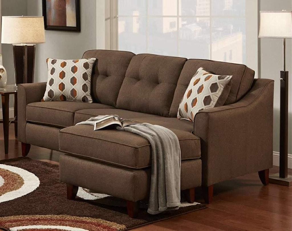 Washington Furniture Stoked Stoked Chocolate Sofa Chaise Great