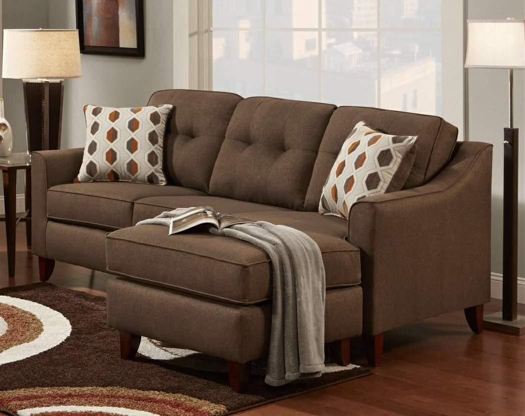 Washington Furniture StokedStoked Chocolate Sofa Chaise ...
