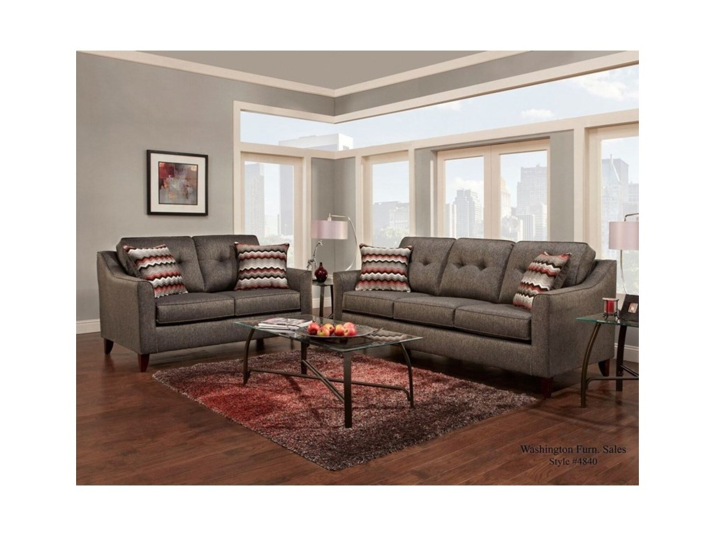 Washington Furniture 4840Stationary Living Room Group