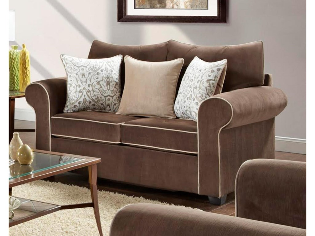 Washington Furniture 5040Spellbound Fudge Loveseat