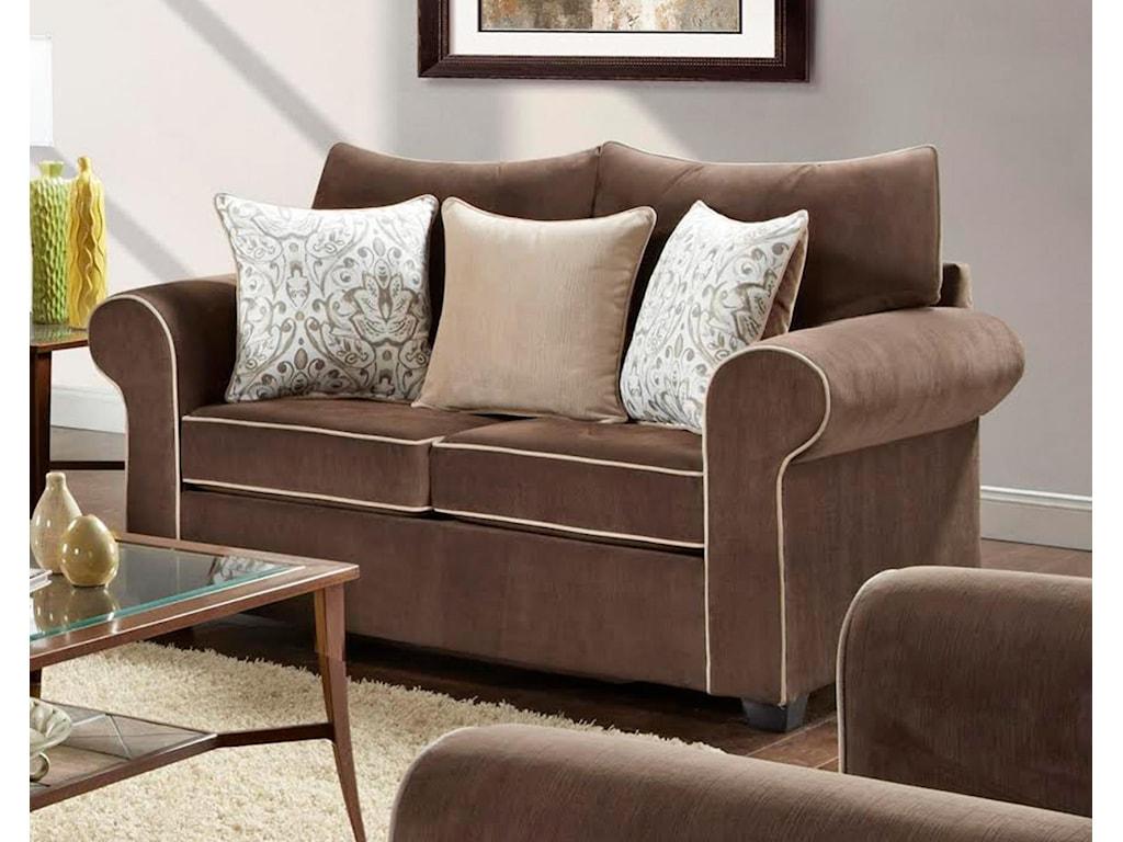 Washington Furniture 5040Spellbound Fudge Loveseat