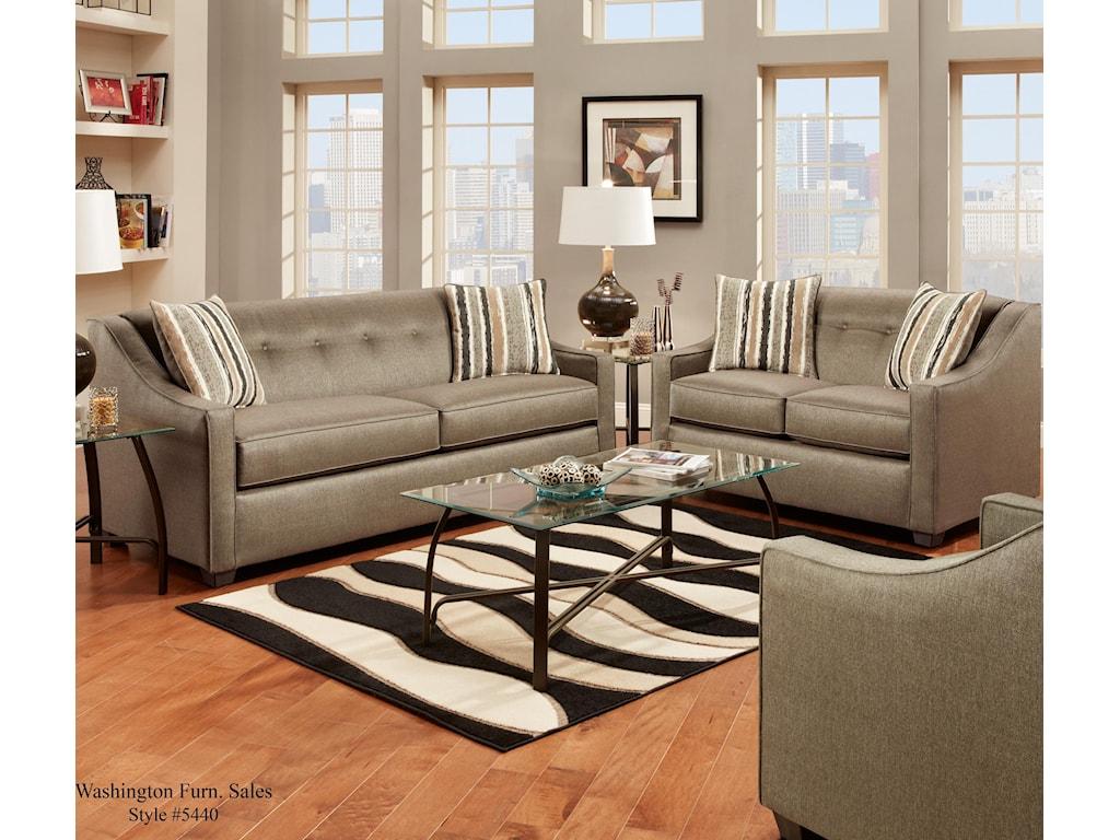 Washington Furniture Stoked PewterSofa