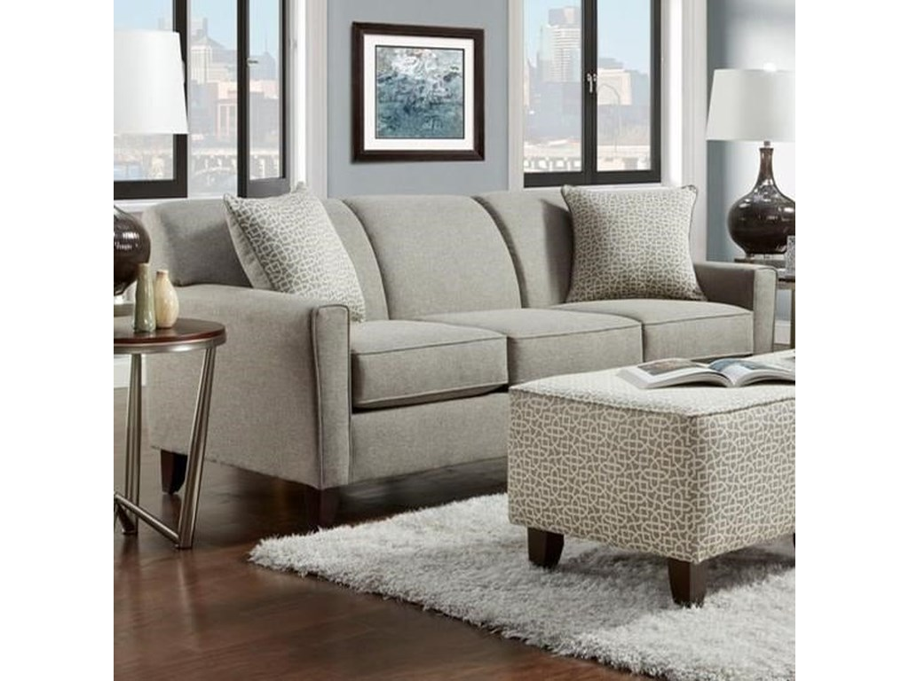 Washington Furniture 5640 Contemporary Sofa With Wooden Legs Vandrie Home Furnishings Sofas