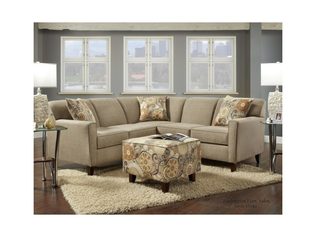 Washington Furniture 5640 Washington4 Seat Sectional